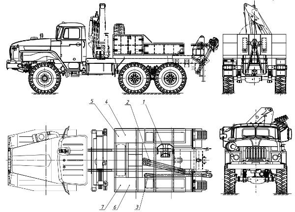 Схема эвакуатора Урал 4320 - ООО ВИД