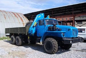Бортовой УРАЛ 4320 с гидроманипулятором ИМ-150