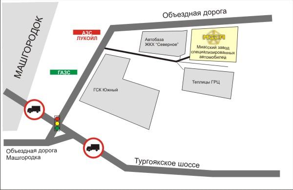 Детальная схема проезда